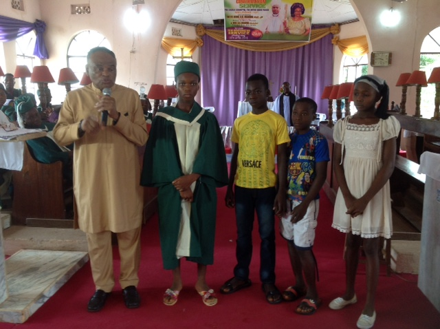 4 of 6 Recipients of LazGrace Charity Education Foundation Scholarship at Anglican Church in Nigeria by The Ven. Dr. Emeka & Mama Archdeacon Nkechi Nwigwe